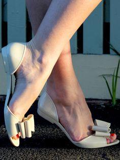 #Fiebiger #Nude #Sandfly #Bow #Jelly #Flats
