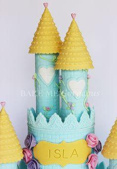 facebook.com/bakemegorgeous  Princess castle cake close up