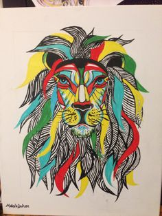 Lion canvas art