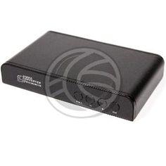 Conversor HDMI de entrada a HDMI de salida. Transforma la señal de HDMI de entrada a una señal modificada de HDMI de salida. Realiza funciones de subida de resolución (upscaler), bajada de resolución (downscaler), separación de audio HDMI, mezclado de audio HDMI, realización de efectos (TB mirror, LR mirror y over turn) y procesado de imagen HDMI (ajuste RGB). Se utiliza para adaptar la resolución HDMI de entrada a una resolución HDMI de salida soportada por la pantalla de TV o proyector.