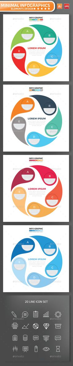 Infographic Tutorial infographic tutorial illustrator cs3 templates for flyers : Best infographic flat elements design | Infographic, Ai ...