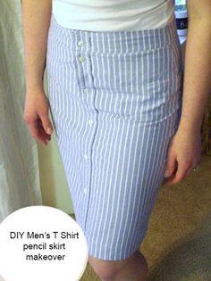 DIY T Shirt Pencil Skirt – Day 26 http://interestingfor.me/diy-t-shirt-pencil-skirt-day-26/