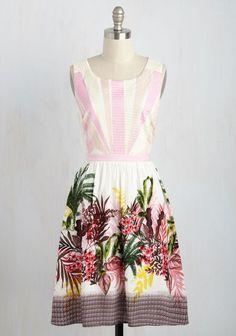 MOdcloth Beautiful Prints Valiant Dress by Esley NWT Size Large Retro Vintage #Esley #fitandflareALane #CasualHawaiianAnyOcassionSunDress