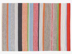 COATES MULTI-COLOURED Cotton Medium multi-coloured stripe cotton rug 140 x 200cm - HabitatUK
