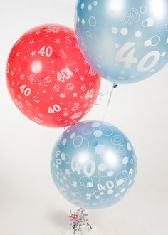 Shop for balloons for any party on Ireland's first ever click & collect online balloon shop. 40th Birthday Balloons, 40th Birthday Parties, Balloon Shop, Balloon Bouquet, Baby Blue, Christmas Bulbs, Create, Holiday Decor, Party