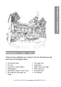 globe theater research paper The original globe theatre was built in the summer of 1599 by shakespeare s playing company, the lord chamberlain s men the inside was like an opera.