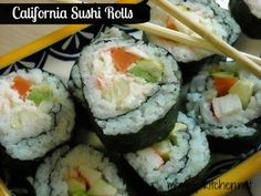 Mommy's Kitchen - Home Cooking & Family Friendly Recipes: DIY California Sushi Rolls. Make Them Yourself at Home. It's a lot easier than you think. #sushi #californiarolls #DIY