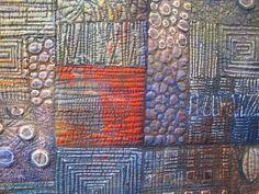 Detail shot of Deidre Adams entry in Quilt National '13