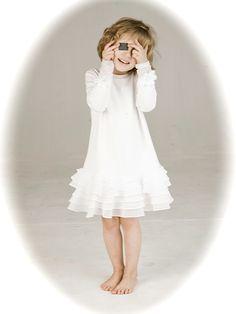 wygodna sukienka na komunię Kids And Parenting, White Dress, Grey, Black, Dresses, Design, Fashion, Gray, Vestidos