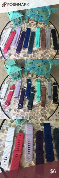 """Stone grey Unisex FitBit Charge2 Silicon band Replacement Fitbit Charge 2 band- brand new never used ❣️Men's or women's ands snap not the Fitbit Charge 2 (Fitbit NOT included) Size Large fits wrists 6.7"""" - 8.1"""" Colors available White, Hot Pink, Lavender, Plum, Royal blue, Steel Blue, Aqua, Brown, Stone grey, Black.  (see other listings) This listing is for the Stone grey. price is firm.  ✅I ship same or next day ✅Bundle for discount Accessories Watches"""