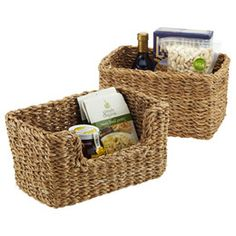 The Container Store > Hogla Storage Bins: I love these new baskets and the fact they are affordable, sturdy and can be used throughout the home.  Products like these are an investment in your organized future.