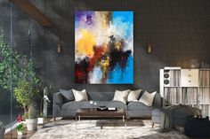 Large Modern Wall Art Painting,Large Abstract wall art,unique painting art,abstract originals,bathroom wall art FY0061