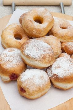 """These Are the Easiest Doughnuts You'll Ever Make — """"cheater"""" donuts using biscuit dough Biscuit Doughnut Recipe, Doughnuts Recipe No Yeast, Biscuit Donuts, Easy Donut Recipe, Baked Donut Recipes, Baking Recipes, Dessert Recipes, Bread Recipes, Recipe For Raised Donuts"""