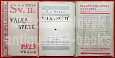 "czech avant-garde AVENTINUM AUCTION 1925 VÁLKA SVĚTŮ sv.11 ""WAR OF THE WORLDS"" British Armed Forces, Childrens Books, Auction, War, Erotica, Children's Books, Children Books, Kid Books, Books For Kids"