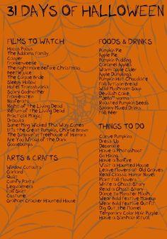 My Halloween Craft and Activity List!                                                                                                                                                                                 More #halloweenactivities