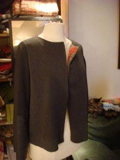 Tutoriel veste simple doublée sans col - SENSOUSSI