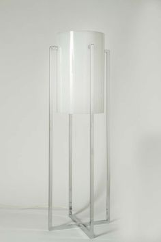 Paul Mayen; Chromed Metal and Acrylic Table Lamp, 1970s.