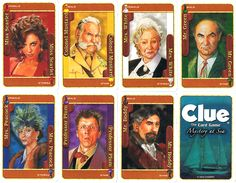 Clue Game Characters: Idea for door tags! (minus Mr. Boddy)