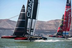 Oracle Team USA wins America's cup we got to see the 1st - 3rd match!!!! So cool! in San Fran.  , CA