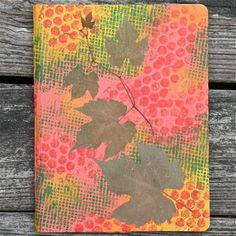 """""""Leaf and Tendril"""" is unique, mixed media, Nature inspired, writing journal made with love and honor for our botanical friends."""