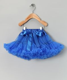 Take a look at this Royal Blue Bow Pettiskirt - Infant, Toddler & Girls on zulily today!