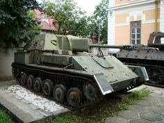 The SU-76 (Samokhodnaya Ustanovka 76) was a Soviet self-propelled gun used during and after World War II. The SU-76 was based on a lengthened and widened version of the T-70 tank chassis. Its simple construction made it the second most produced Soviet armoured vehicle of World War II, after the T-34 tank...
