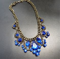 Blue necklace  www.alongthebridalpath.com.au