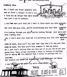 The 1975 - Somebody Else lyrics Somebody Else Lyrics, The 1975 Somebody Else, Find Somebody, The 1975 Lyrics, Music Lyrics, Music Quotes, Band Quotes, Bukowski, The 1975 Poster