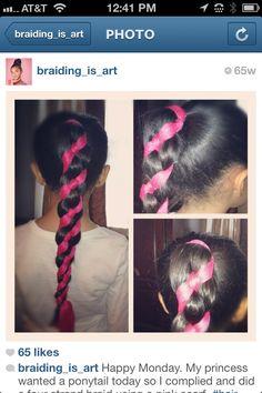 Four-strand striped braid