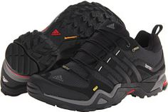 adidas Outdoor Terrex Fast X GTX®, The adidas Outdoor Terrex Fast X GTX shoe will keep you moving through good and bad weather with its all-terrain construction and superb waterproof protection. Synthetic and mesh upper. GORE-TEX Performance Comfort is a breathable membrane that offers the ultimate in waterproof protection. Durable synthetic leather overlays promote a supportive fit and long-lasting wear.