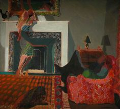 alfred stockham(1933- ), interior with figures, 1966. acrylic on canvas, 123 x 135 cm. royal college of art, uk http://www.bbc.co.uk/arts/yourpaintings/paintings/interior-with-figures-147119