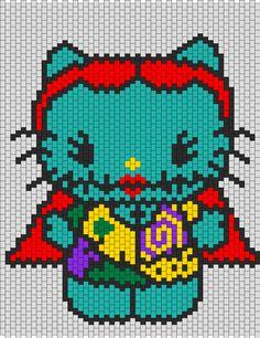 Sally Hello Kitty bead pattern