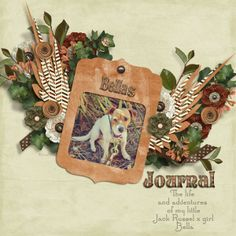 "Bella's Journal Kit:Beneath the beauty ""Designs by Connie Prince Template: Fuss free: Learn to fly 2 ""Fiddle -dee- dee Designs"" Style: Copper ""HG Designs"" Font: ""StoryBook"" ""Santa's Sleigh Full"" Photography by ©Nikki Mulreany"