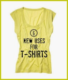 Six new uses for old t-shirts | www.inspirationformoms.com #sixonsaturday #newusesforthings #tshirts