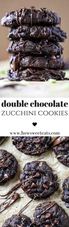 Double Chocolate Fudge Zucchini Cookies