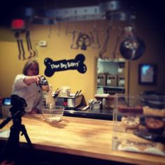 We're making a cooking video today at our plaza bakery. Chef Sarah is a total pro!