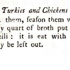 Turkey and Chickens Dutch Dressed 1796