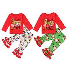 2017 Brand New Christmas Toddler Infant Kids Baby Girl Xmas Long Sleeve Top Shirt Pants Colorful Santa Outfits Set Clothes Pajamas For Teens, Girls Pajamas, Pajamas Women, Twin Outfits, Pajama Outfits, Matching Outfits, Satin Pyjama Set, Pajama Set, Family Christmas Outfits
