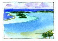 Aitutali, View fron Maunga Pu