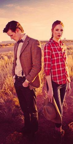 Matt Smith and Karen Gillan as The Doctor and Amy Pond. 'Doctor Who'