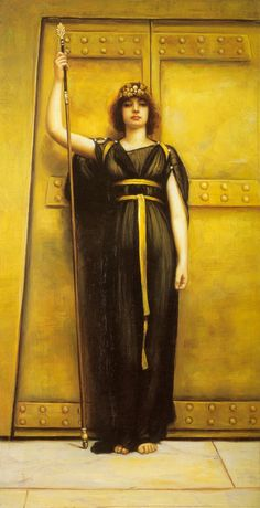 """Vintage Ephemera: Pre-Raphaelite Painting, """"The Priestess"""", 1895"""