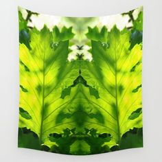 Green Touch Wall Tapestry by crismanart Wall Tapestries, Wall Hangings, Tapestry, Outdoor Walls, Indoor Outdoor, Tablecloths, Hand Sewn, Vivid Colors, Favorite Color