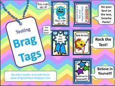 Brag Tags: Testing -Words of Encouragement Classroom Freebies, Classroom Ideas, Future Classroom, Classroom Activities, School Resources, Teaching Resources, Teaching Ideas, Kindergarten Fun, Preschool