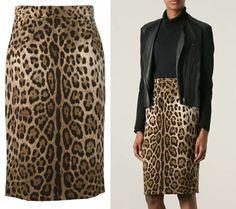 How to Wear Leopard Print Pencil Skirt Like Victoria Beckham