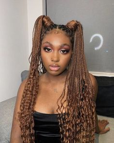 African American Braided Hairstyles, Black Girl Braids, Braided Hairstyles For Black Women, Braids For Black Women, African Braids Hairstyles, Girls Braids, Protective Hairstyles, Baddie Hairstyles, Summer Hairstyles