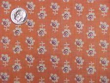 Vintage Antique Cotton Quilt Doll Fabric Print 1920s Tiny Flowers Rare Find
