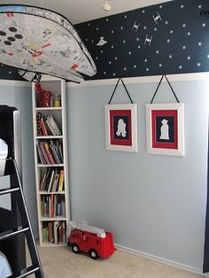 Boy's Star Wars Room..I think I love the outer space edging best but its all cool =^_^=