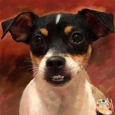 Portraits by NC.com Custom Painted Dog Portraits #rat #terrier #dogs #pets #animals #custom #portrait #handmade #painting #artwork #homedecor #wallart #gifts https://portraits-by-nc.com/products/rat-terrier-dog-portrait-481