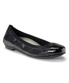 6f1af0269269 Lovely Shoes For Aching Feet · Look at this  zulilyfind! Black Lizard  Allora Leather Flat  zulilyfinds Mom Dress