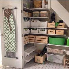 42 The Most Creative Storage Ideas Under Stairs Ikea Algot, Small Living Rooms, Living Room Designs, Closet Under Stairs, Ikea Under Stairs, Small Floor Plans, Kitchen Organisation, Garage Organization, Creative Storage